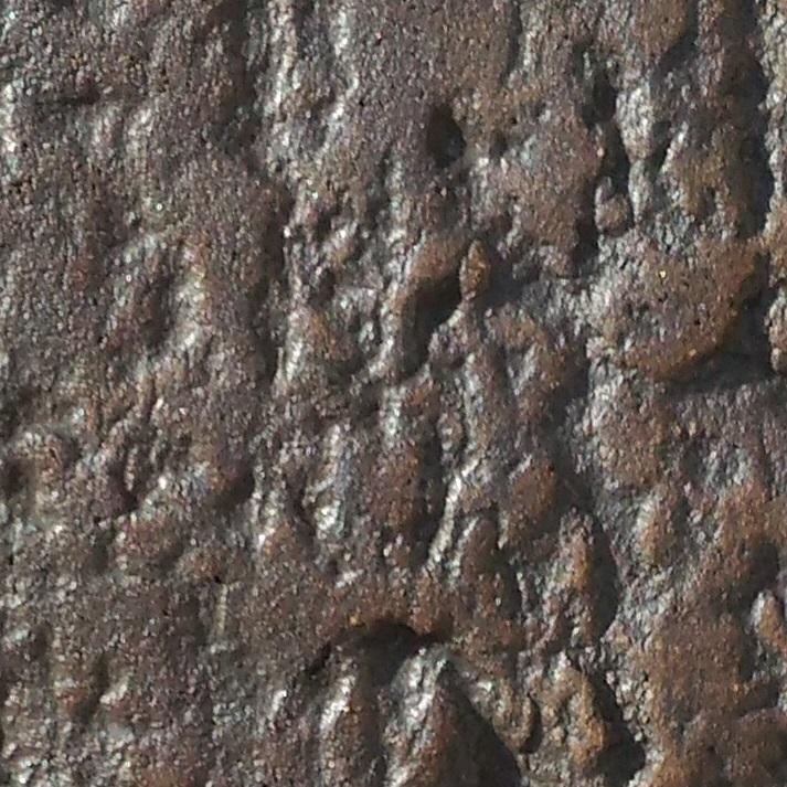 Jus d'oxyde de manganèse sur grès sépia